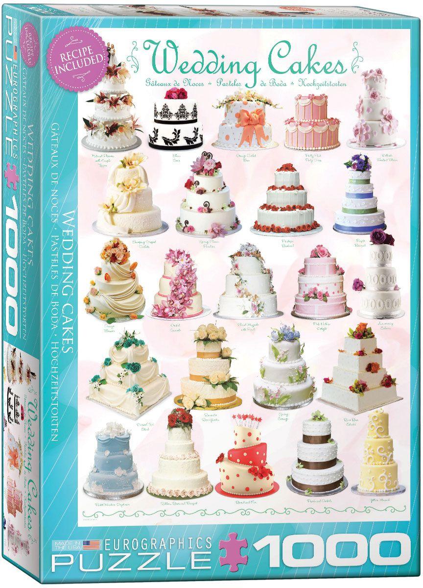 Пъзел Eurographics от 1000 части –  Сватбени торти - 1
