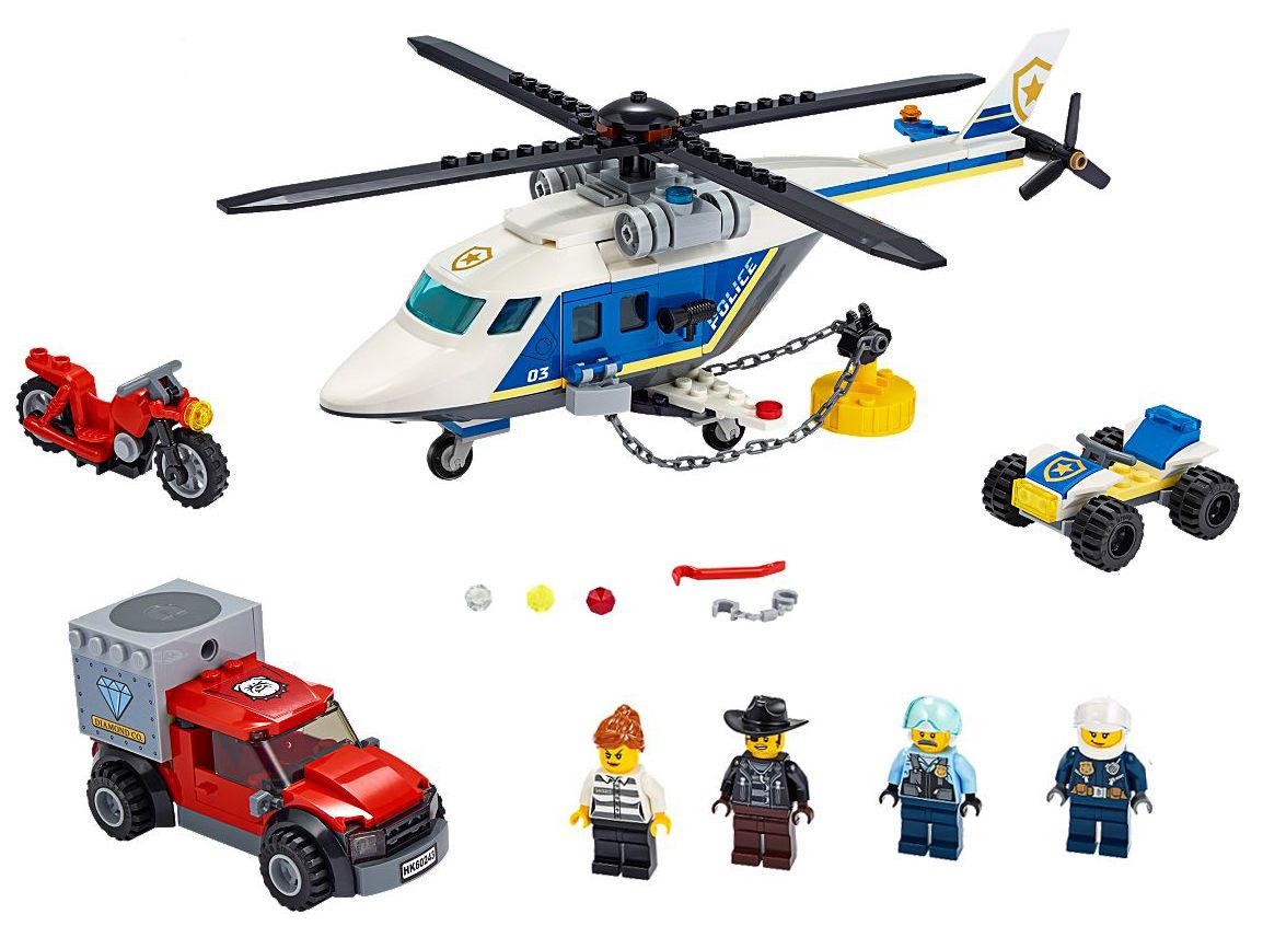Конструктор Lego City Police - Полицейско преследване с хеликоптер (60243) - 3