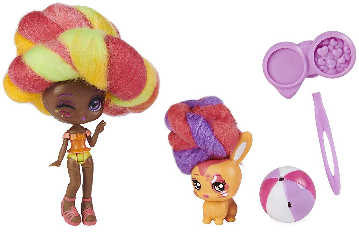 Мини кукла с ароматна коса Candylocks - С домашен любимец, асортимент - 11