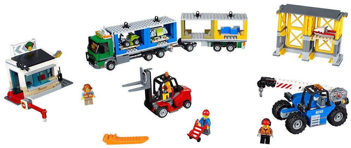 Конструктор Lego City – Товарен терминал (60169) - 2