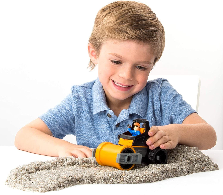 Игрален комплект с кинетичен пясък Kinetic Rock - Пътностроителна техника - 4