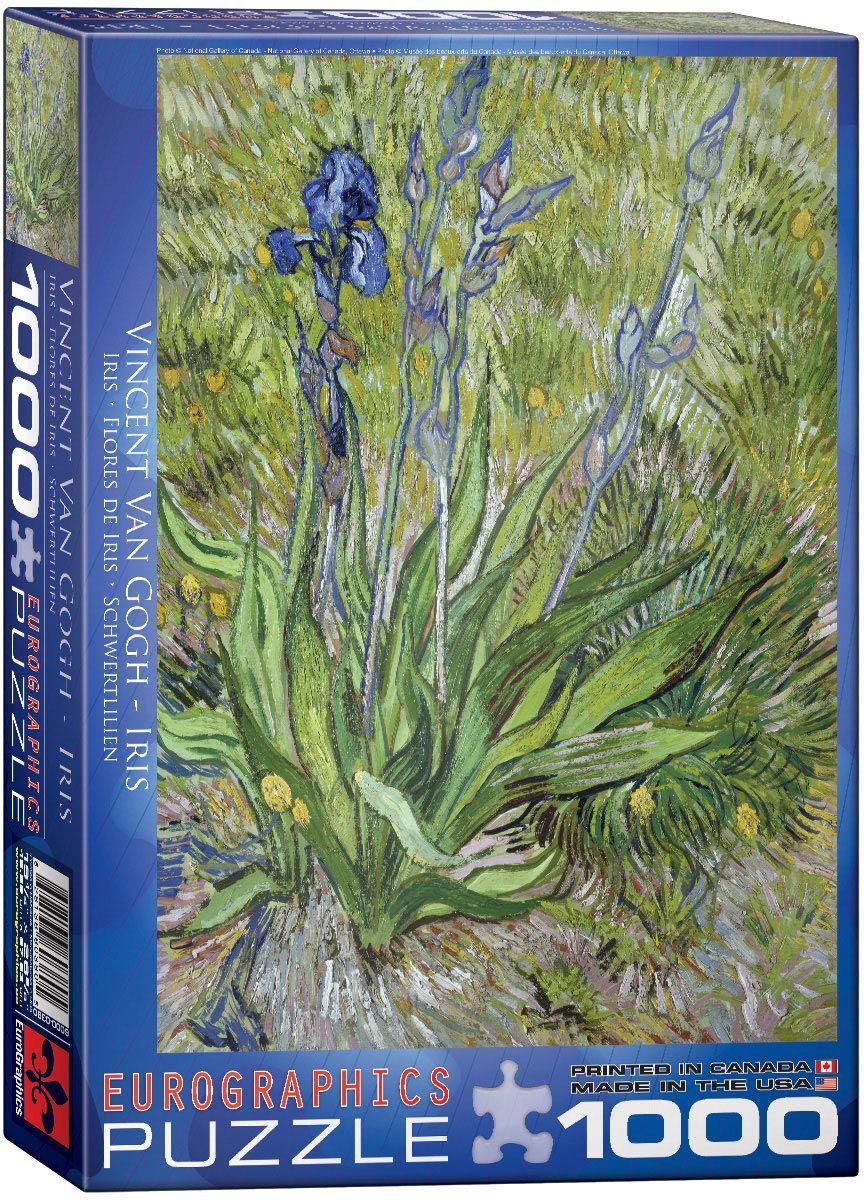 Пъзел Eurographics от 1000 части –  Ириси, Винсент Ван Гог - 1
