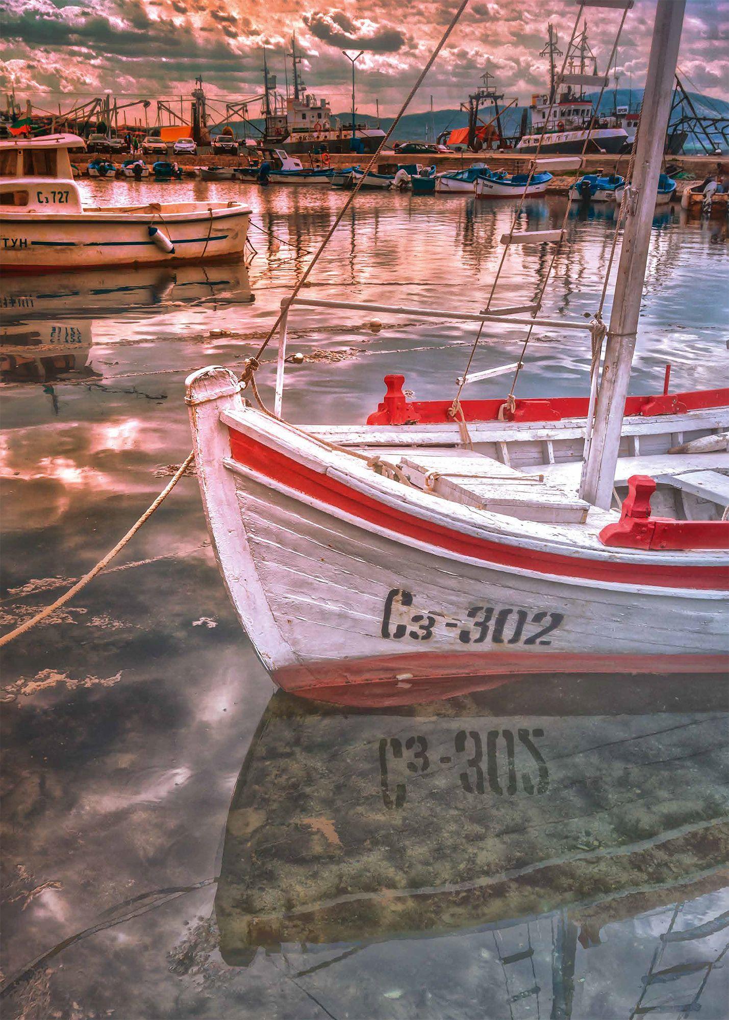 Пъзел Heye от 1000 части - Залез на пристанището в Созопол, България - 3