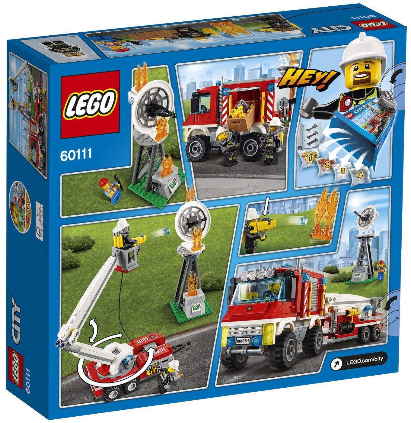 Конструктор Lego City - Пожарникарски камион (60111) - 3