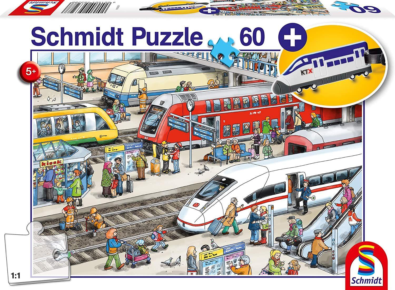 Пъзел Schmidt от 60 части - На жп гарата, с аксесоар за багаж - 1
