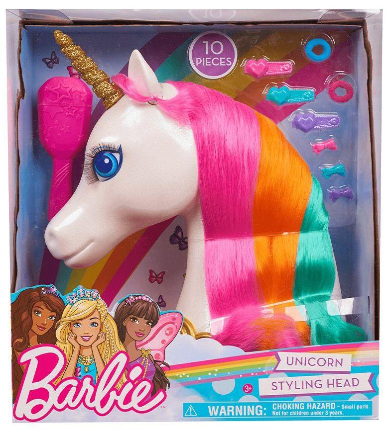 Модел за прически Barbie Dreamtopia - Еднорог, 10 части - 1