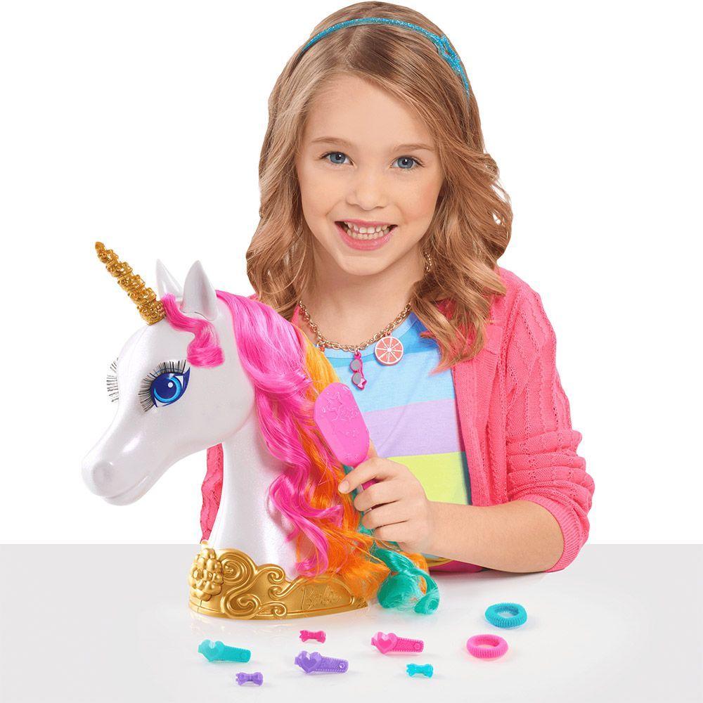 Модел за прически Barbie Dreamtopia - Еднорог, 10 части - 3