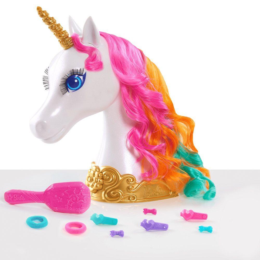 Модел за прически Barbie Dreamtopia - Еднорог, 10 части - 2