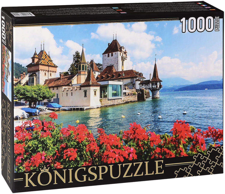 Пъзел Königspuzzle от 1000 части - Замък във водата - 1