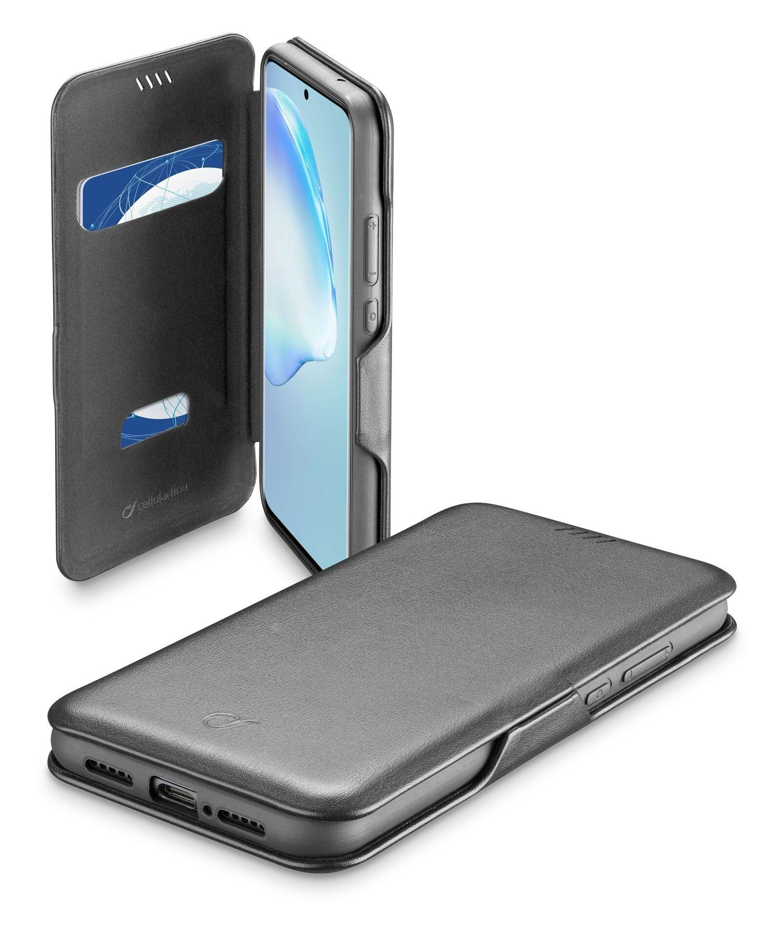 Калъф Cellularline - Book Clutch, за Samsung Galaxy S20+, черен - 1