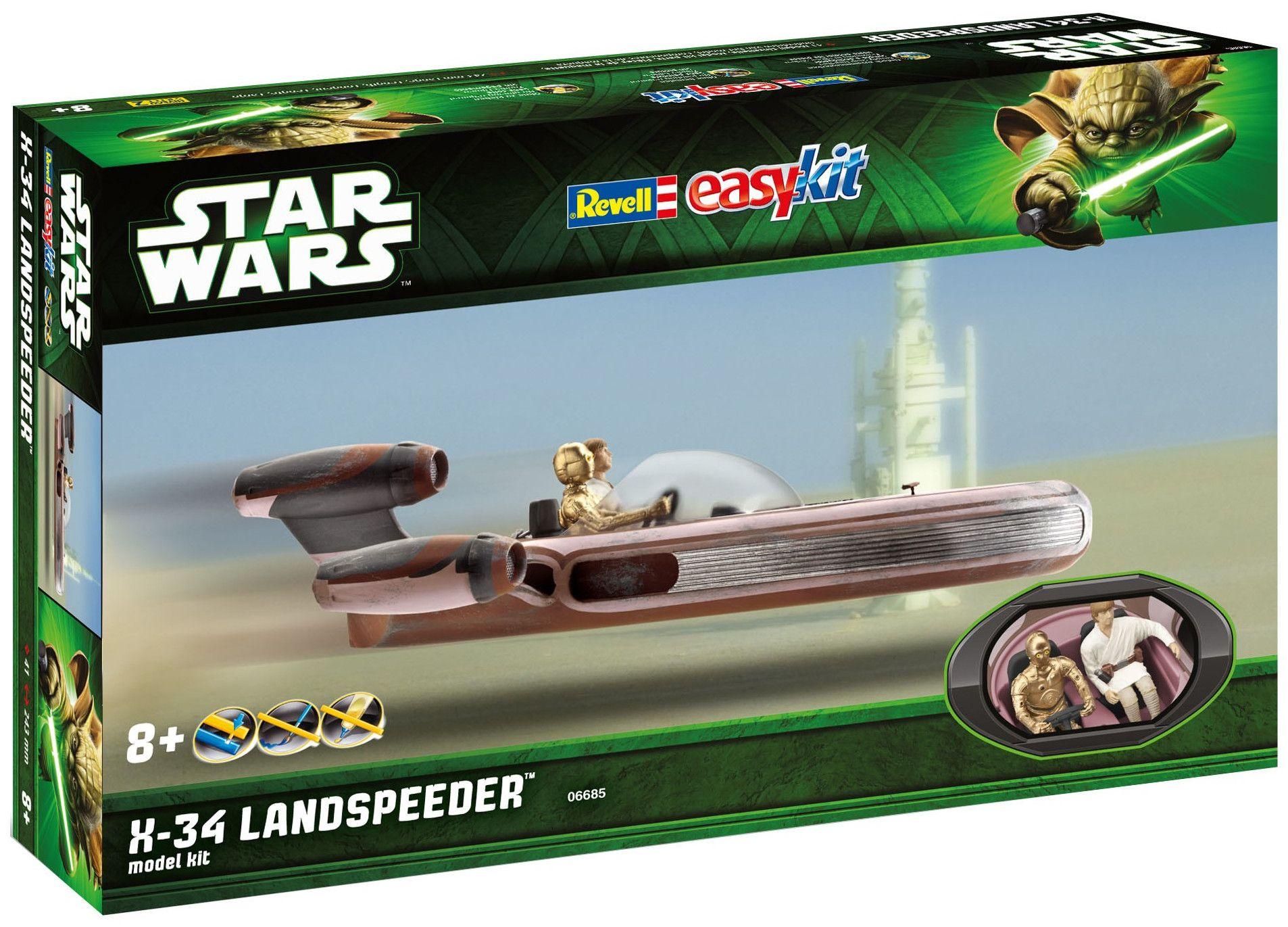 Сглобяем модел на космически кораб Revell Easykit STAR WARS - X-34 Landspeeder (06685) - 1