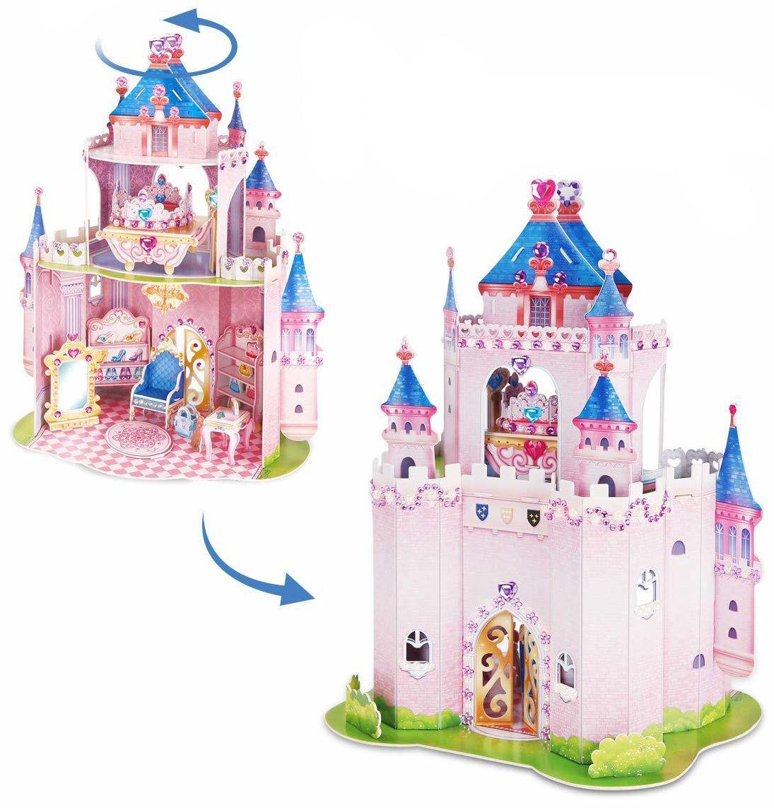 3D Пъзел Cubic Fun от 92 части - Тайната градина на принцесата, с 493 камъчета - 2