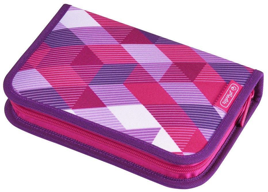Несесер с две крила Herlitz - Pink Cubes, 31 части - 1