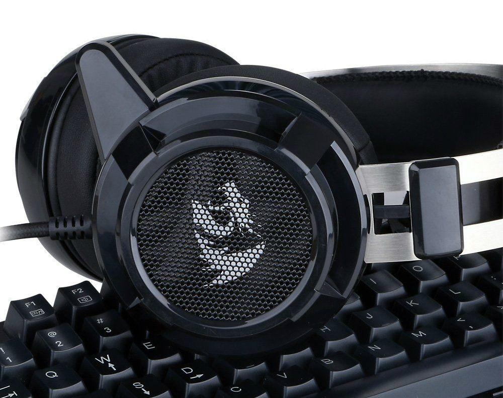 Гейминг слушалки Redragon - Siren H301, черни - 6