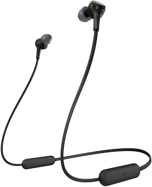 Безжични слушалки Sony - WI-XB400, черни - 1