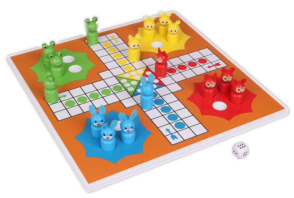 Детска игра Не се сърди човече Животни, от дърво - 1