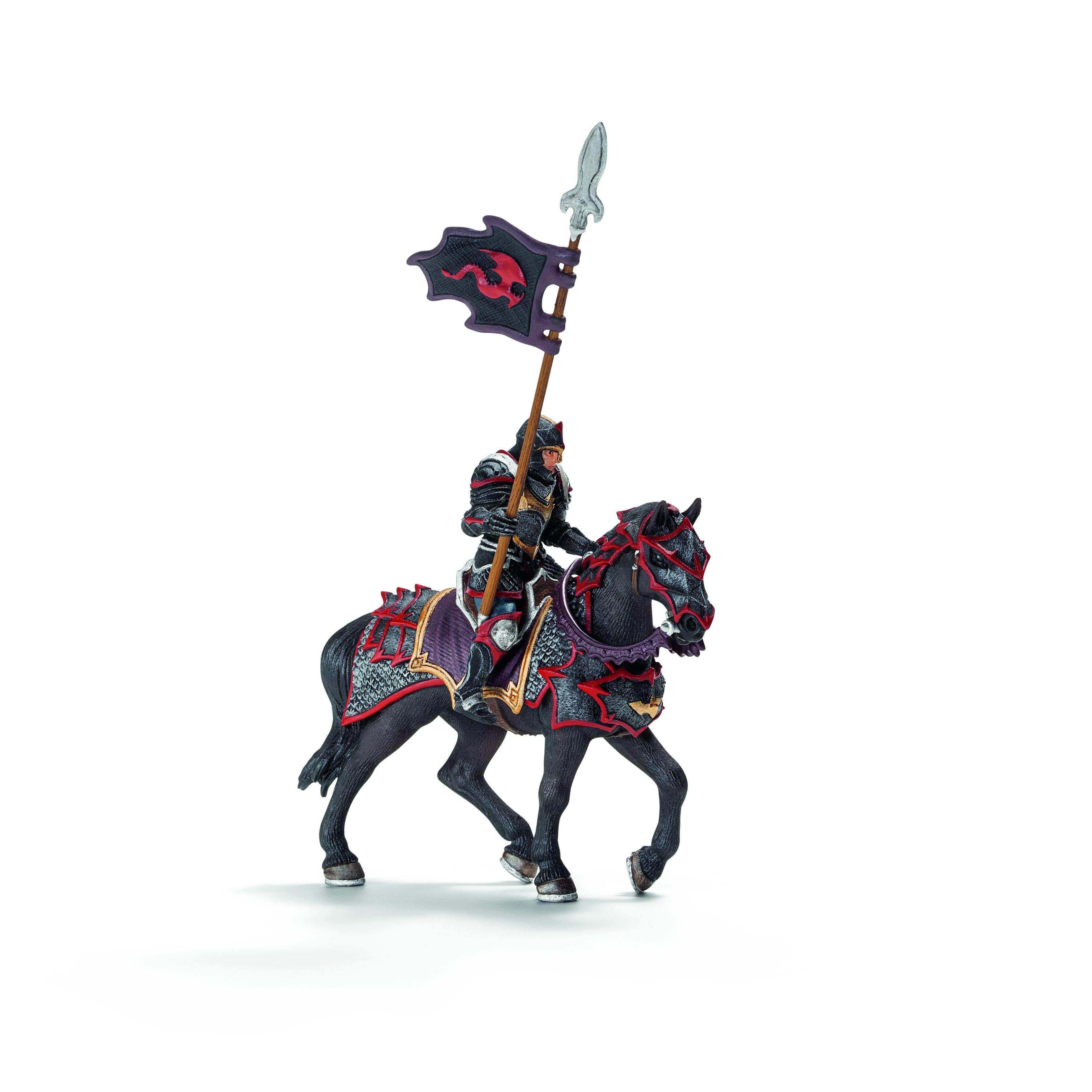 Фигурка Schleich от серията Рицари на Дракона: Рицар на Дракона на кон с пика - 1