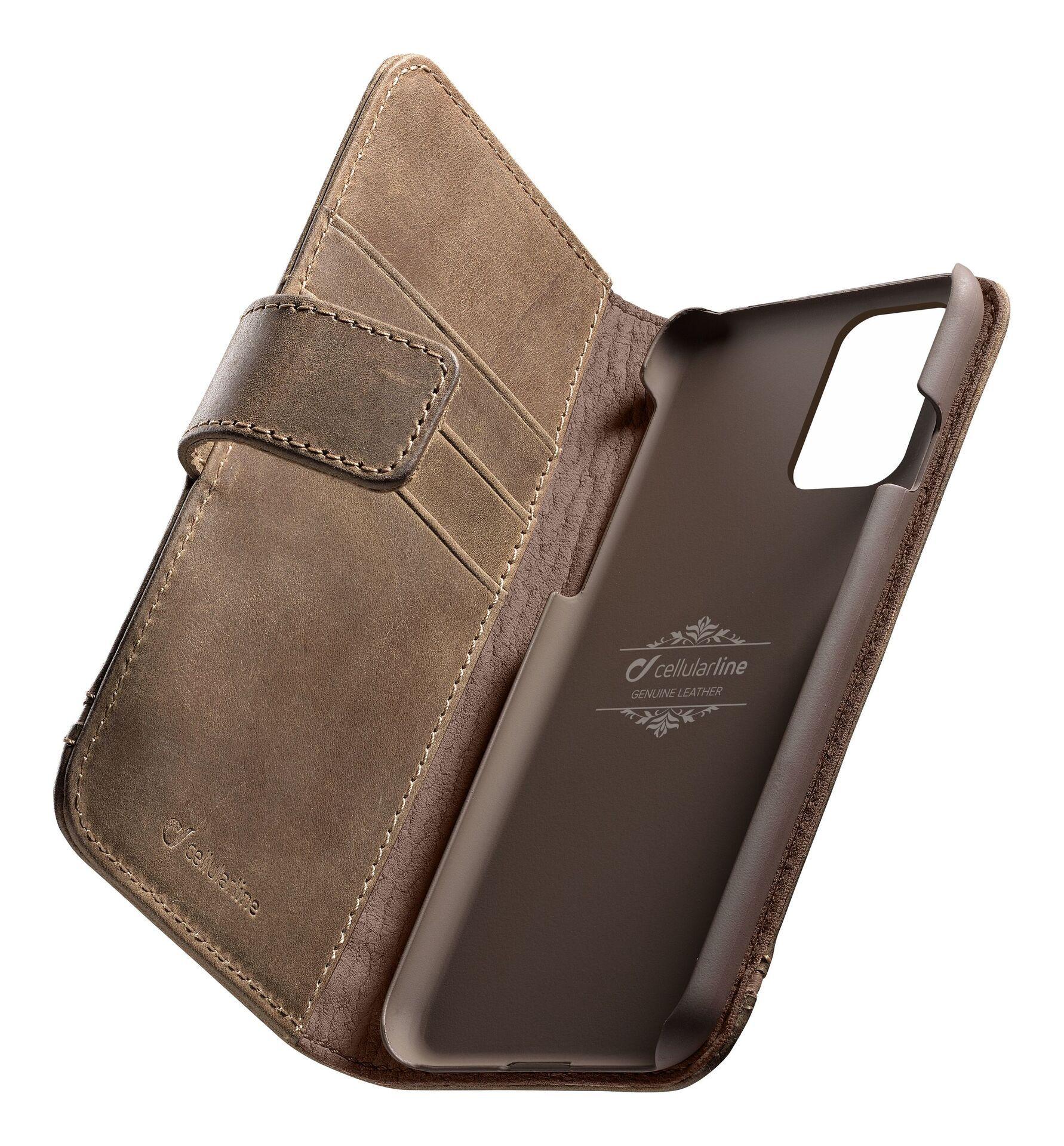 Кожен калъф Cellularline - Book Supreme, за Samsung Galaxy S20+, кафяв - 1