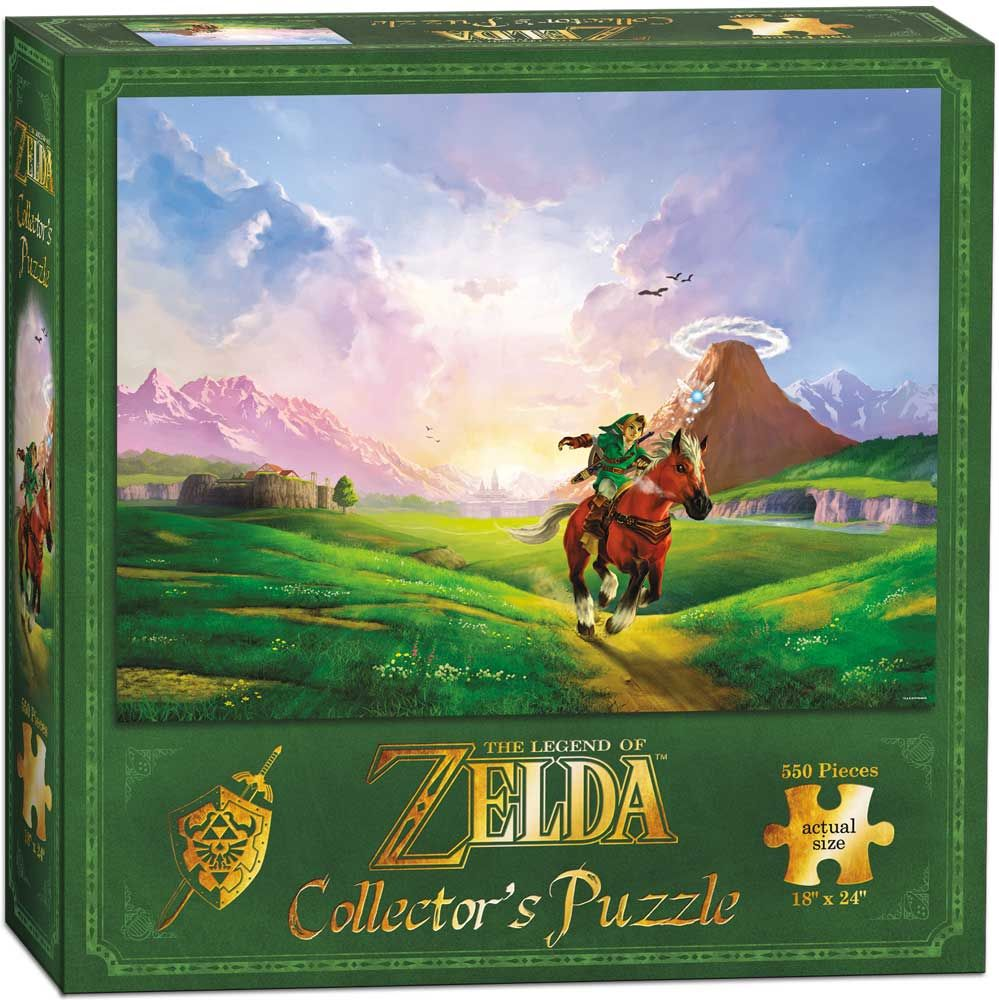 Колекционерски пъзел USAopoly, The Legend of Zelda – Препускащият Линк, 550 части - 1