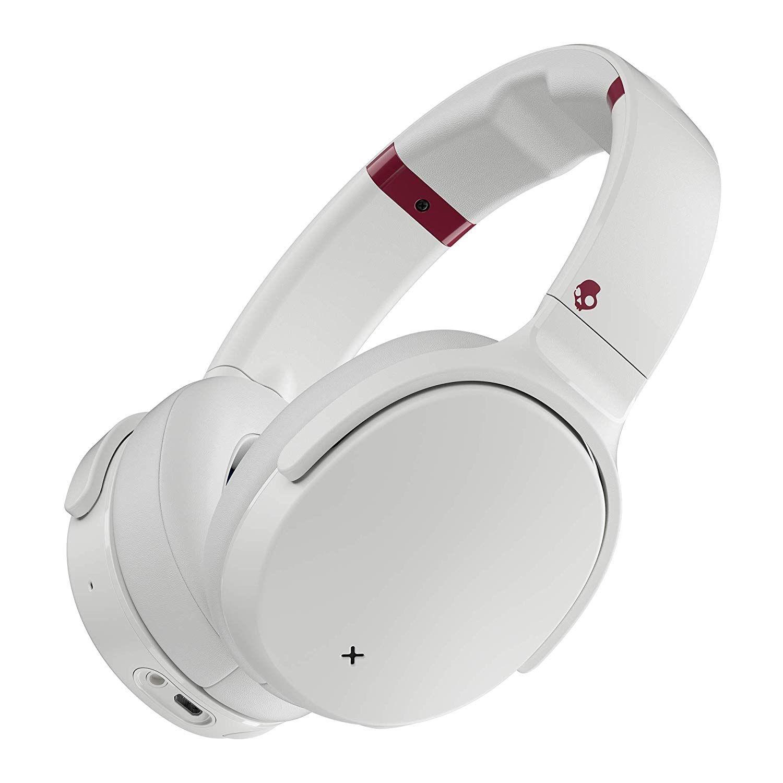 Слушалки с микрофон Skullcandy - Venue Wireless, white/crimson - 1