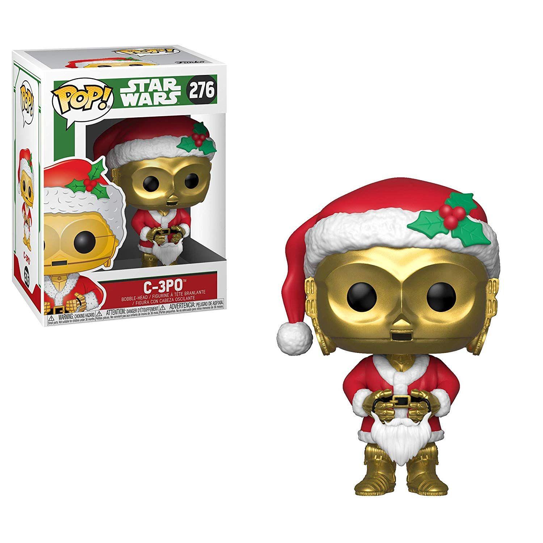 Фигура Funko Pop! Star Wars: Holiday Santa C-3PO (Bobble-Head), #276 - 2