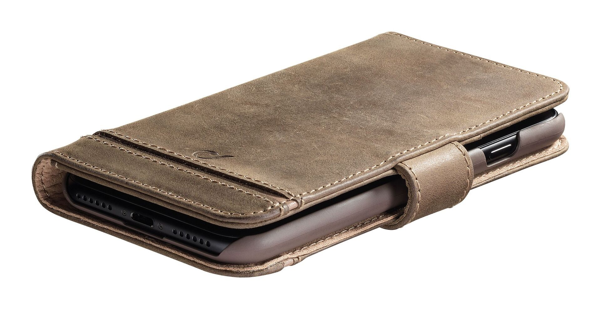 Кожен калъф Cellularline - Book Supreme, за Samsung Galaxy S20+, кафяв - 2
