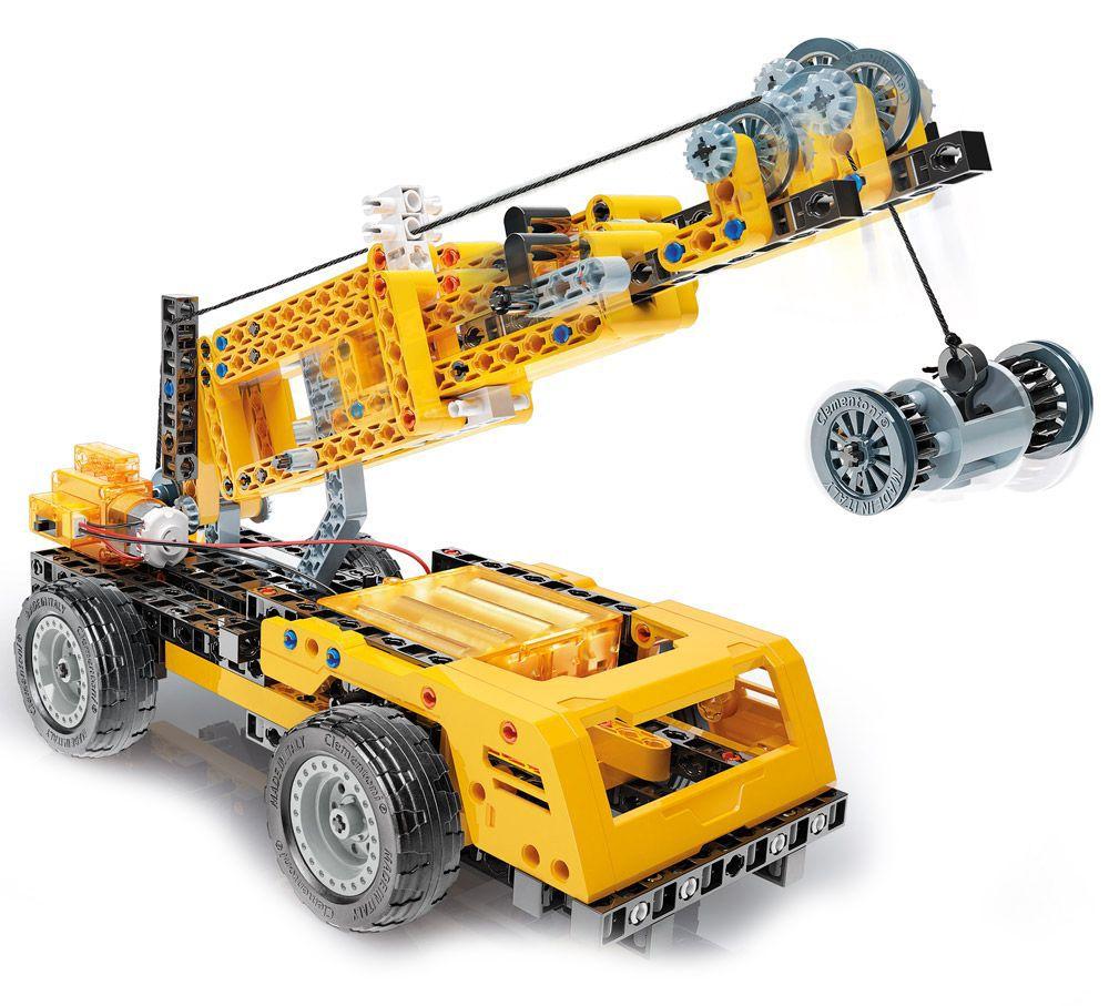 Конструктор Clementoni Mechanics Laboratory - Строителни машини, 250 части - 2