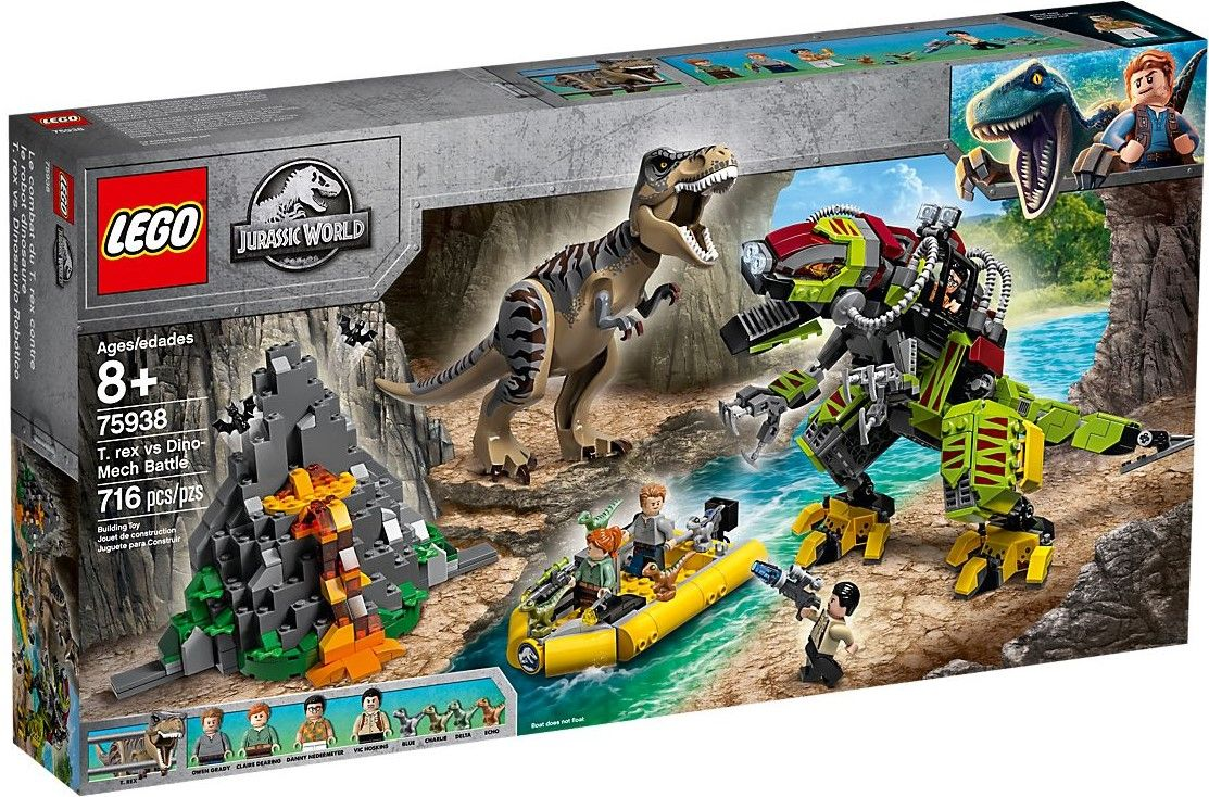 Конструктор Lego Jurassic World - T.Rex vs. Dino-Mech Battle (75938) - 1