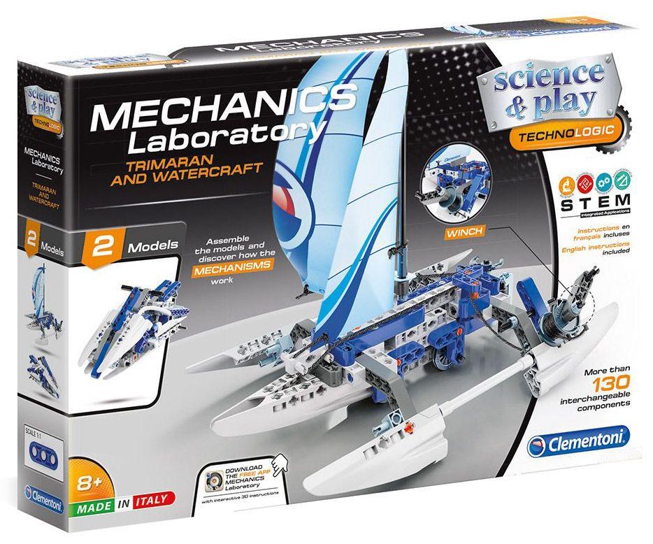 Конструктор Clementoni Mechanics Laboratory - Лодка, 130 части - 1