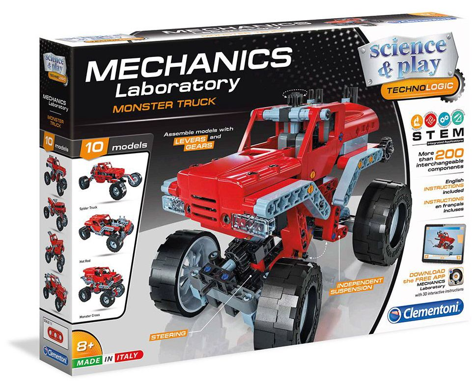 Конструктор Clementoni Mechanics Laboratory - Камион Чудовище, 200 части - 1