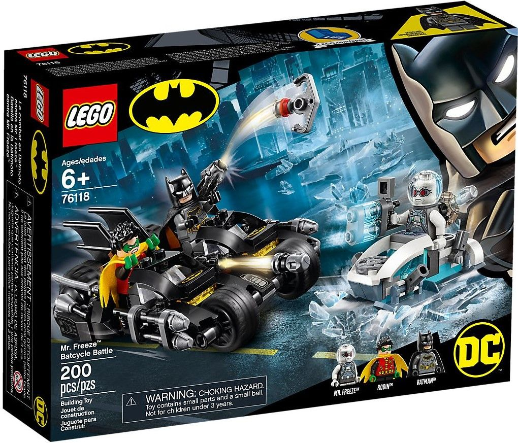 Конструктор Lego DC Super Heroes - Mr. Freeze Batcycle Battle (76118) - 1