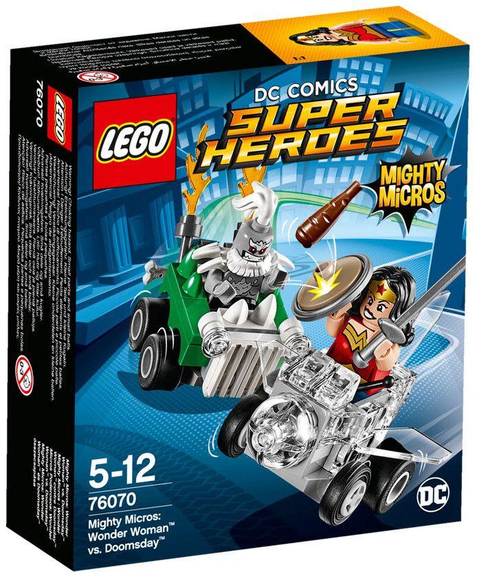 Конструктор Lego Super Heroes – Mighty Micros: Жената чудо™ срещу Думсдей™ (76070) - 1