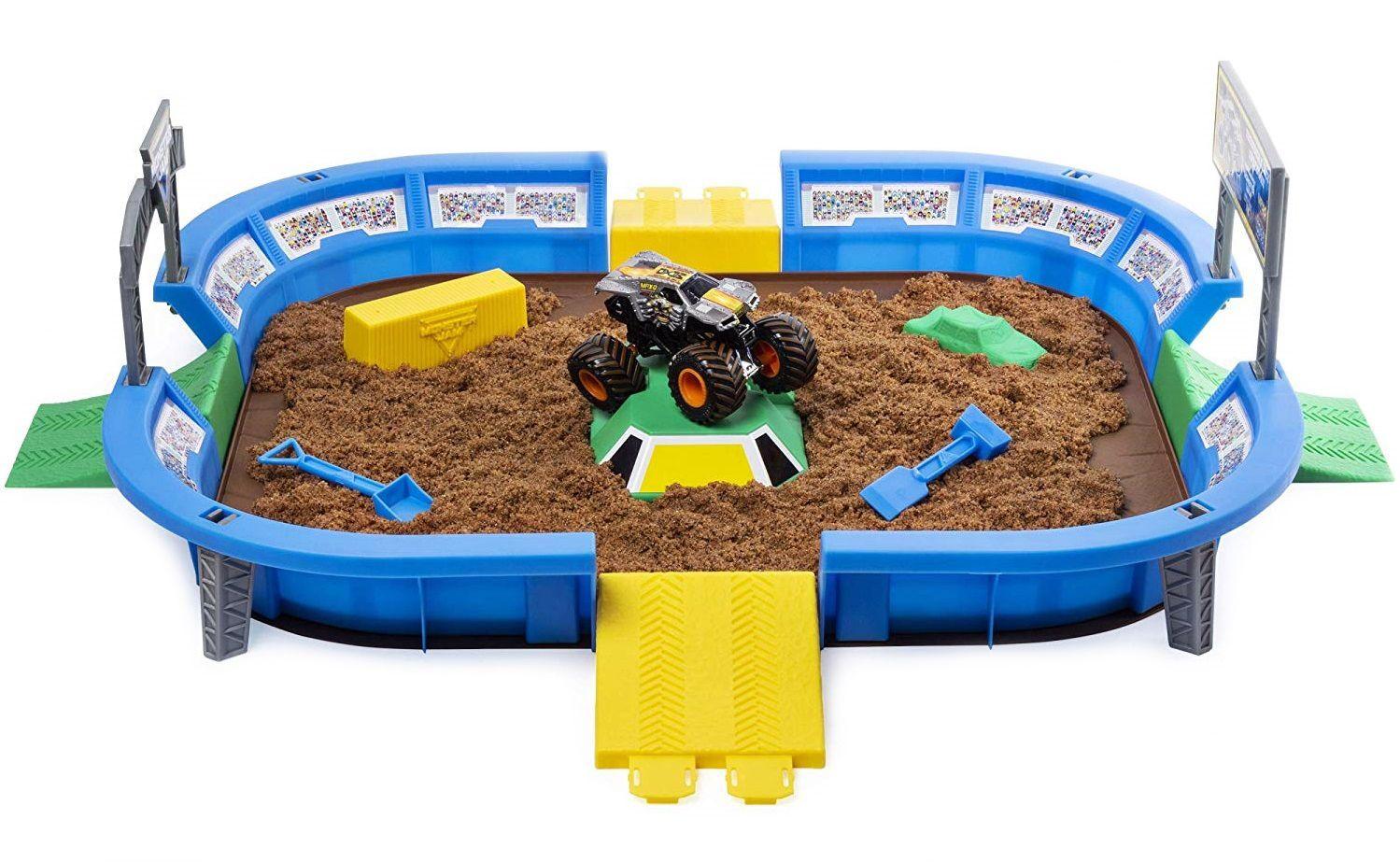 Игрален комплект с кинетичен пясък Spin Master Monster Jam - Арена с ексклузивно бъги, Deluxe - 1