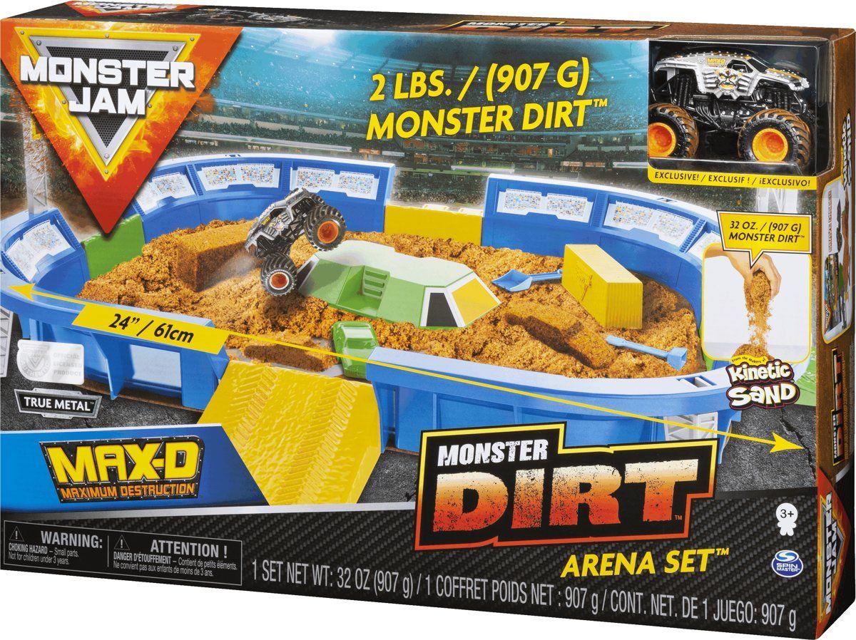 Игрален комплект с кинетичен пясък Spin Master Monster Jam - Арена с ексклузивно бъги, Deluxe - 5