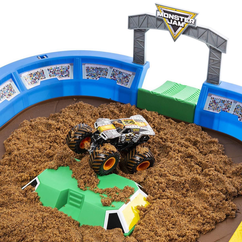 Игрален комплект с кинетичен пясък Spin Master Monster Jam - Арена с ексклузивно бъги, Deluxe - 3