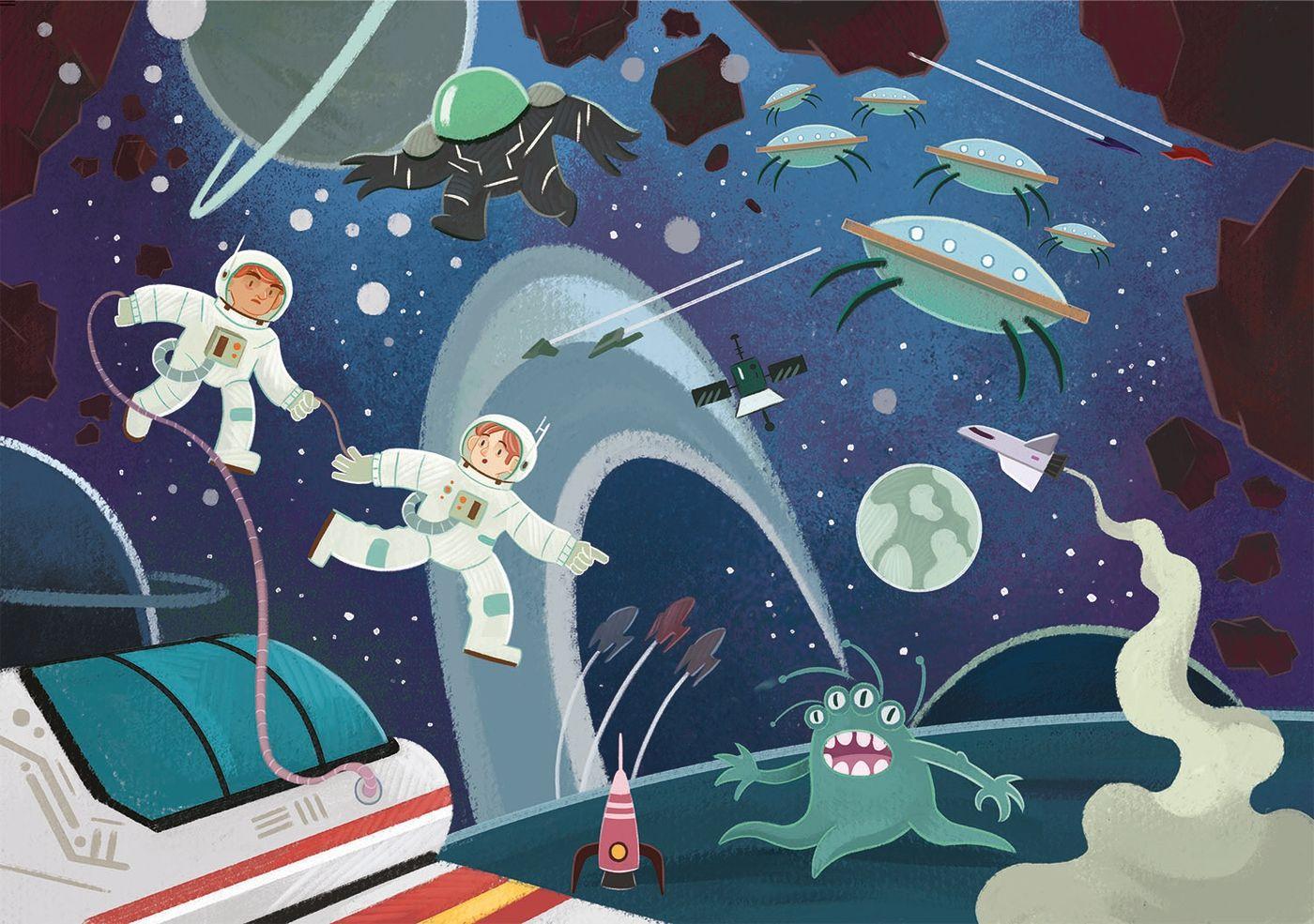 Блестящ пъзел Clementoni от 104 части - Космически странности - 2