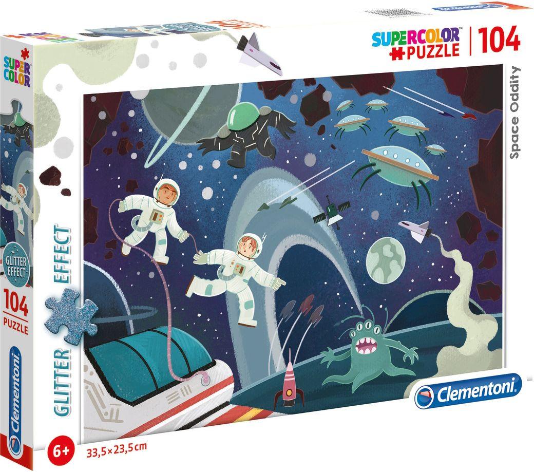 Блестящ пъзел Clementoni от 104 части - Космически странности - 1
