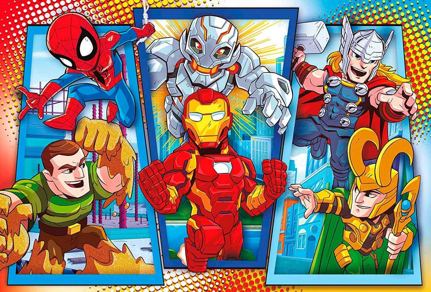 Пъзел Clementoni от 104 макси части - Супергероите на Марвел - 2