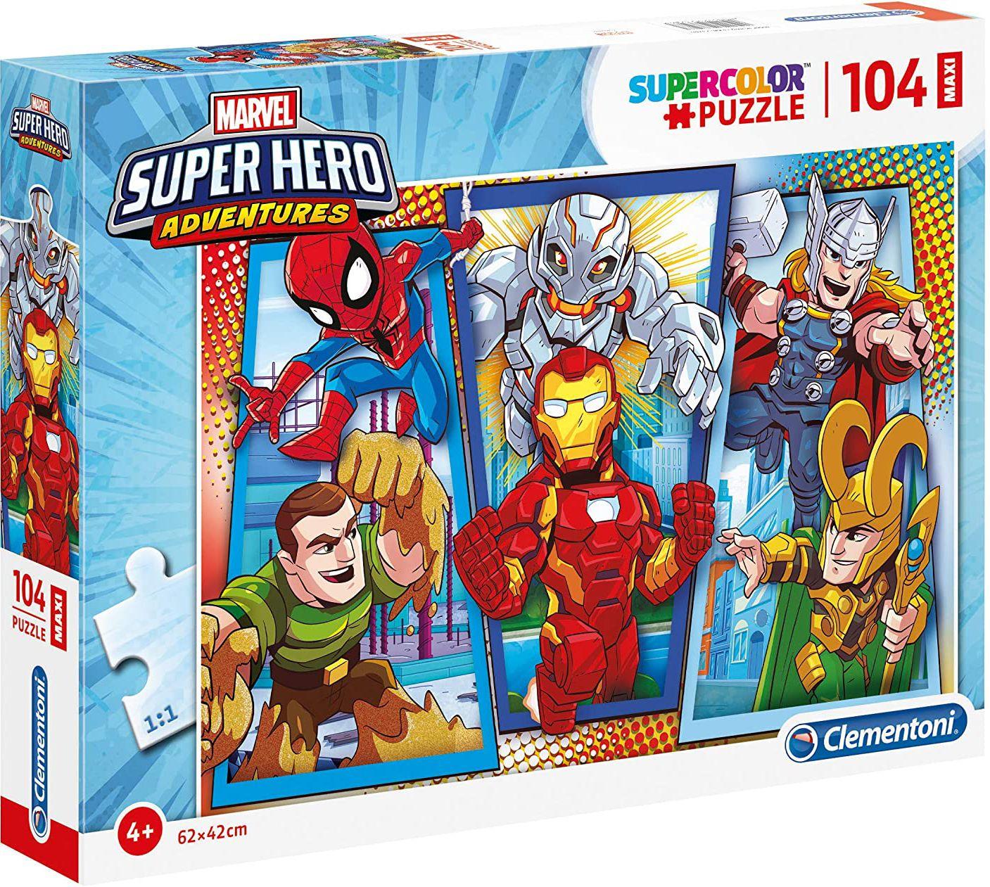 Пъзел Clementoni от 104 макси части - Супергероите на Марвел - 1