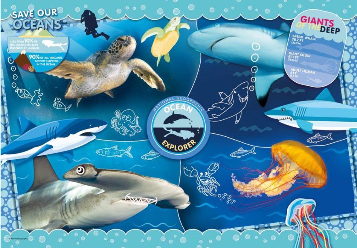 Пъзел Clementoni от 104 части - Изследване на океаните - 2