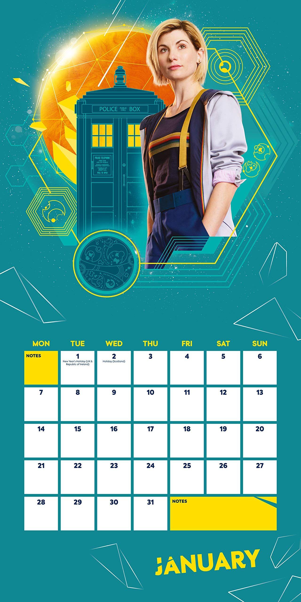 Стенен Календар Danilo 2019 - Doctor Who - 2