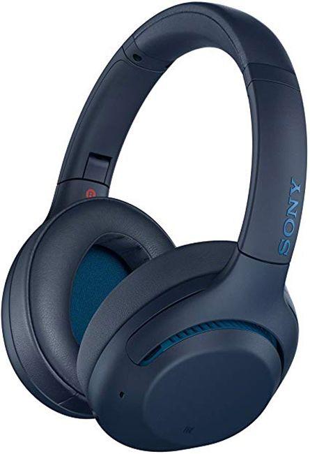 Безжични слушалки с микрофон Sony - WH-XB900N, сини - 2