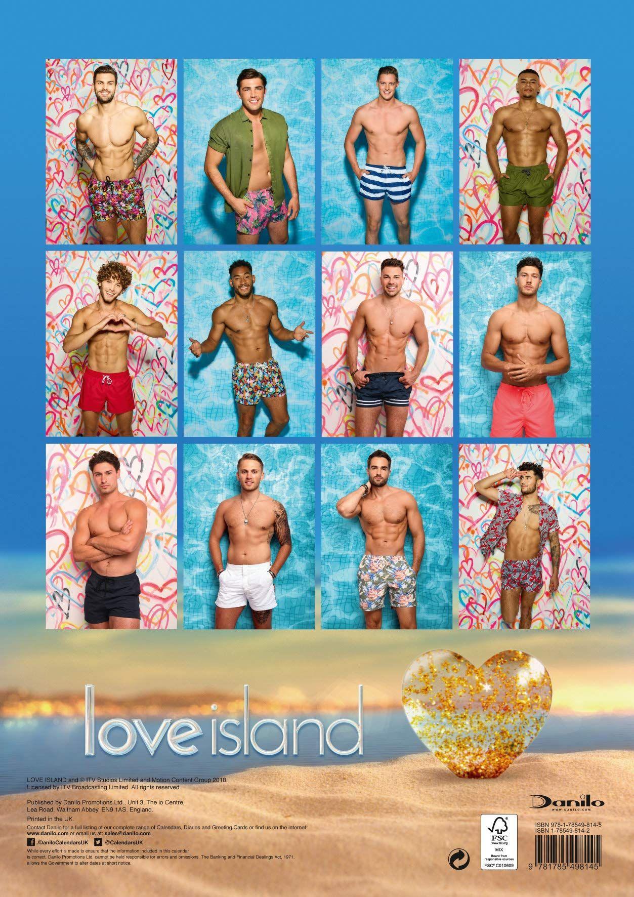 Стенен Календар Danilo 2019 - Love Island Boys - 4