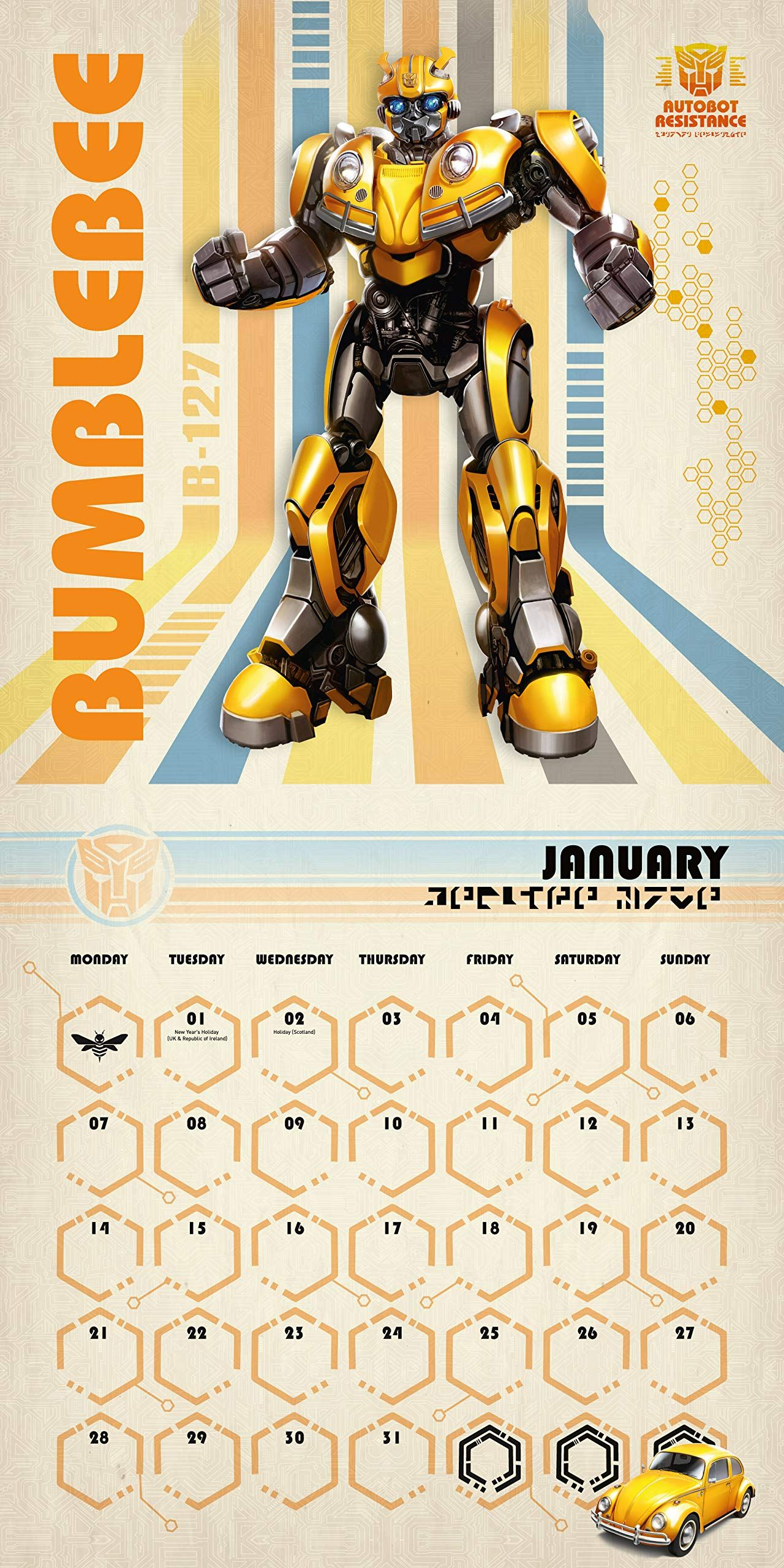 Стенен Календар Danilo 2019 - Transformers Bumblebee - 3