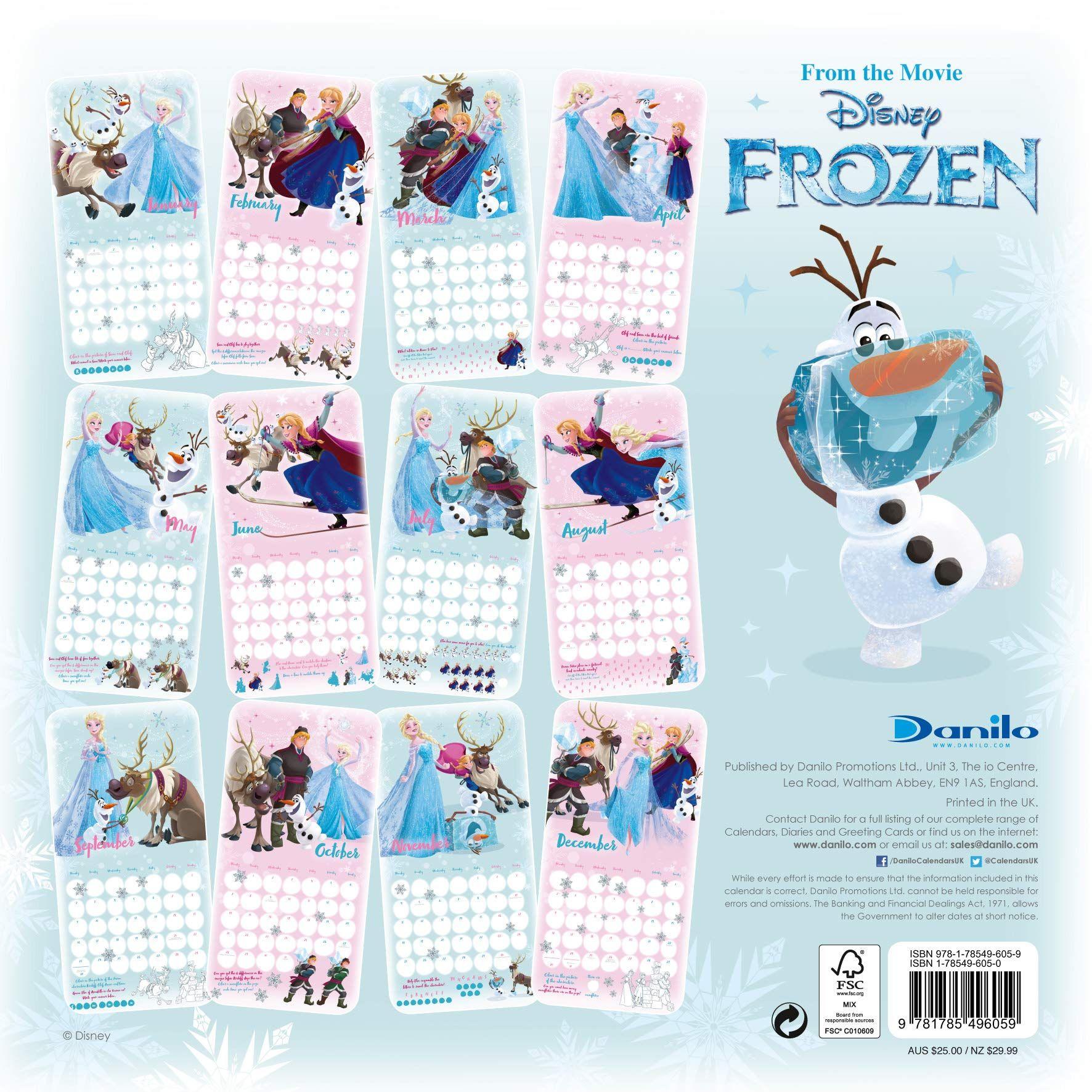 Стенен Календар Danilo 2019 - Disney Frozen Inc - 4