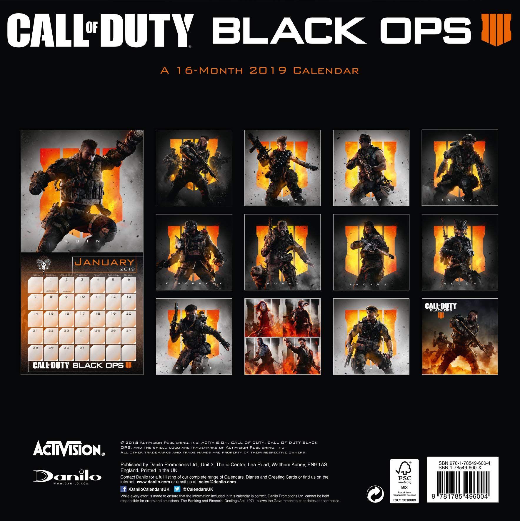 Стенен Календар Danilo 2019 - Call of Duty - 4