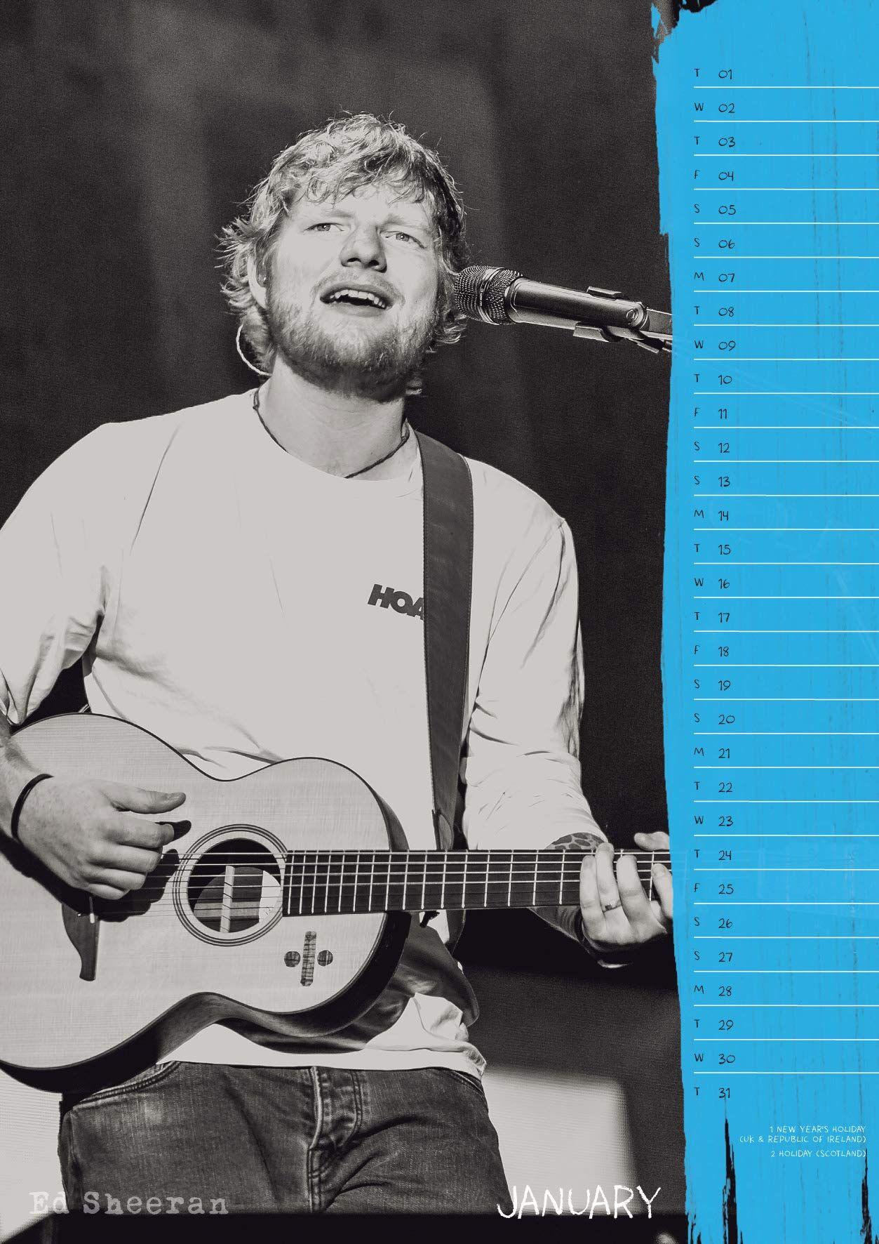 Стенен Календар Danilo 2019 - Ed sheeran - 3