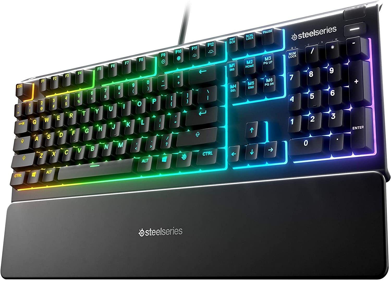 Гейминг клавиатура SteelSeries - Apex 3, черна - 1