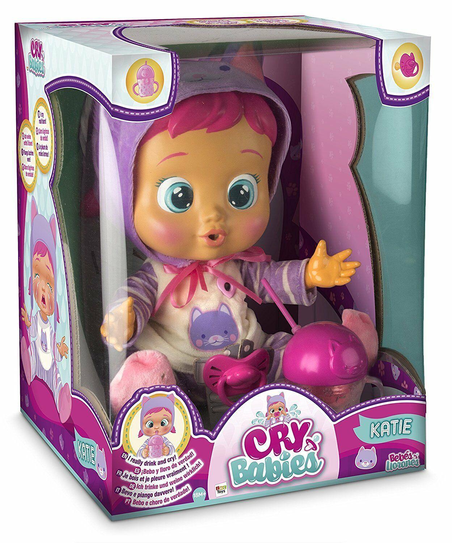 Плачеща кукла със сълзи IMC Toys Cry Babies - Кейти, с шише за вода - 4