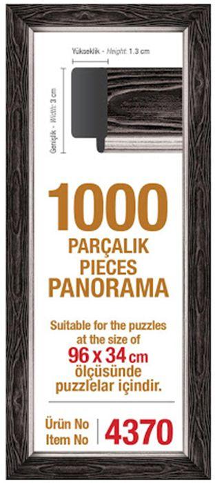 Рамка за панорамен пъзел Art Puzzle  - Черна, за 1000 части - 1